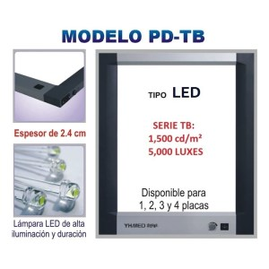 NEGATOSCOPIO TIPO LED DOBLE CAMPO. SLIM ROYAL – PD-TB-2