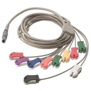 CABLE DE PACIENTE 10 PUNTAS TIPO CLIP PARA ECG EN STRESS (SE-PRO-600) – WASE-PC-AHA-CLIP