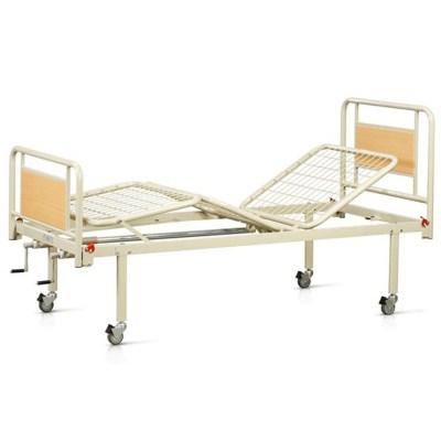 V12013 Κρεβάτι Νοσηλείας Χειροκίνητο με Μανιβέλες & Ρόδες
