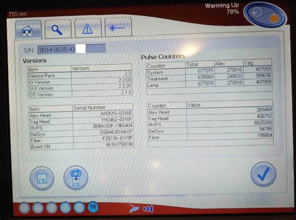 2016 Candela Gentlemax Pro 755nm and 1064nm Dual Wavelength