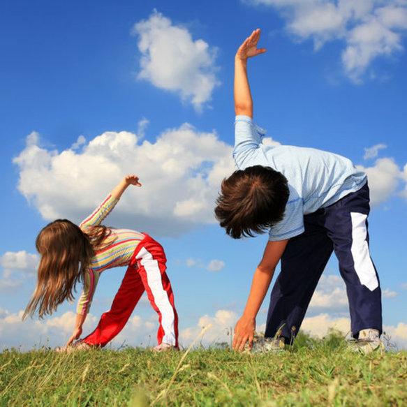 подростки, дети, физические упражнения
