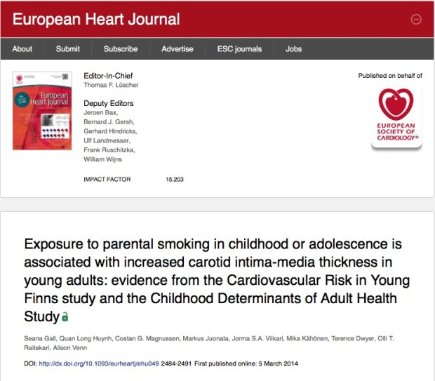 Skilton M. R. et al. Telomere length in early childhood: Early life risk factors and association with carotid intima-media thickness in later childhood //European Journal of Preventive Cardiology. – 2015. – С. 2047487315607075.