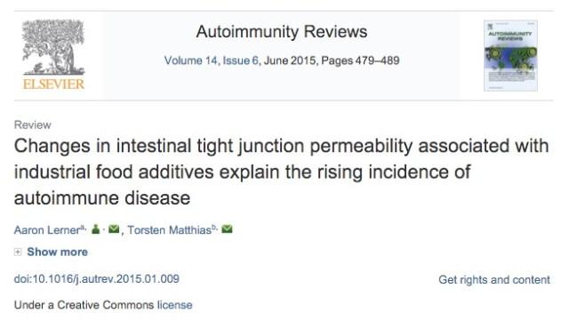 Обработанные пищевые продукты, аутоиммунные заболевания, Autoimmunity