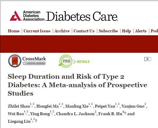 Shan Z. et al. Sleep Duration and Risk of Type 2 Diabetes: A Meta-analysis of Prospective Studies //Diabetes care. – 2015. – Т. 38. – №. 3. – С. 529-537.