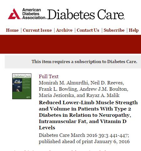 Diabetes Care, травмы, диабет,