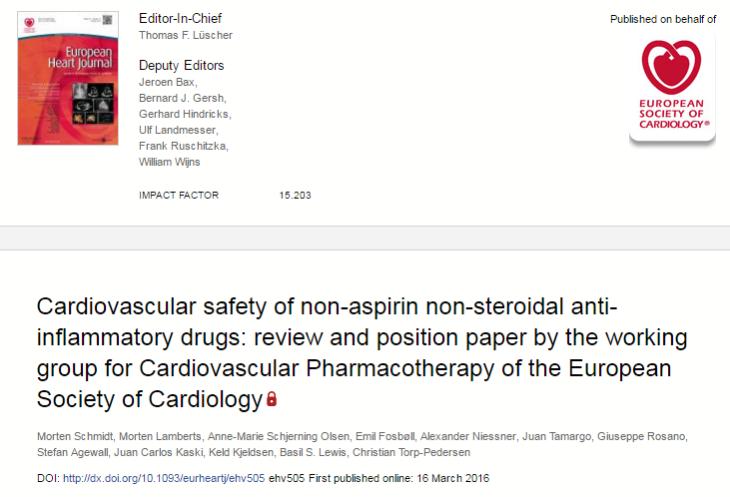 НПВП, European Heart Journal