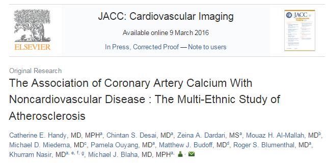 Journal of the American College of Cardiology: Cardiovascular Imaging, индекс кальция, сердечно-сосудистые заболевания