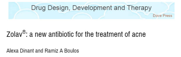 Journal of Drug Design, Development and Therapy, акне, антибиотик