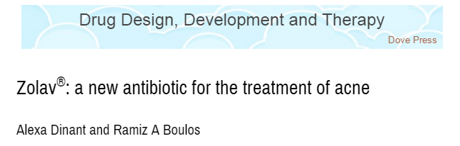 Journal of Drug Design, Development and Therapy, акне, антибиотик