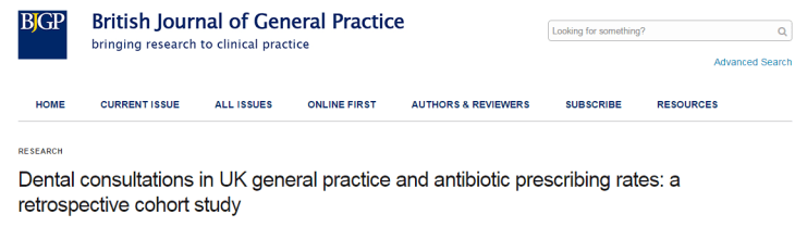 антибиотики, зубная боль, British Journal of General Practice