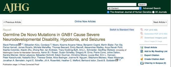 неврологический синдром, ген, American Journal of Human Genetics