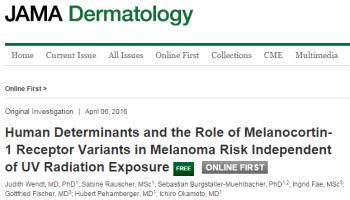 меланома, MC1R, JAMA Dermatology