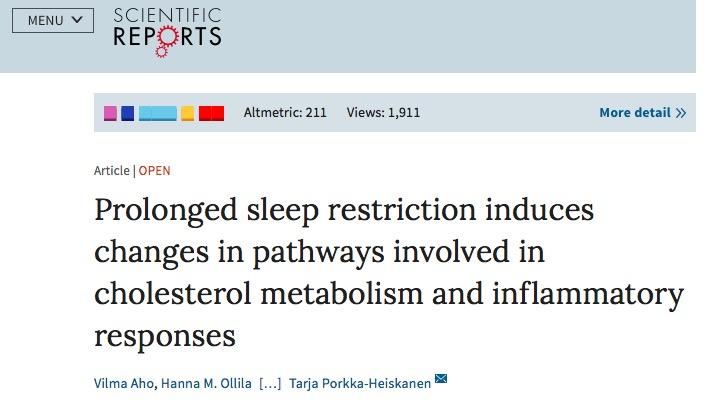 сон, холестерин, Scientific Reports