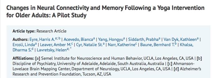 йога, медитация, слабоумие, Journal of Alzheimer's Disease