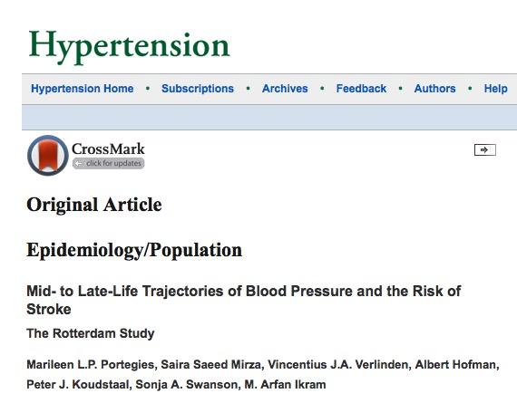 инсульт, смерть, Hypertension