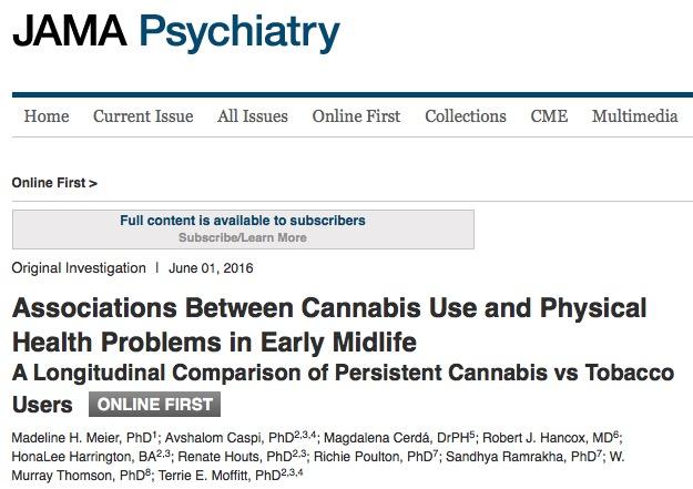 марихуана, пародонтоз, JAMA Psychiatry