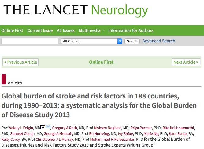 инсульт, The Lancet Neurology
