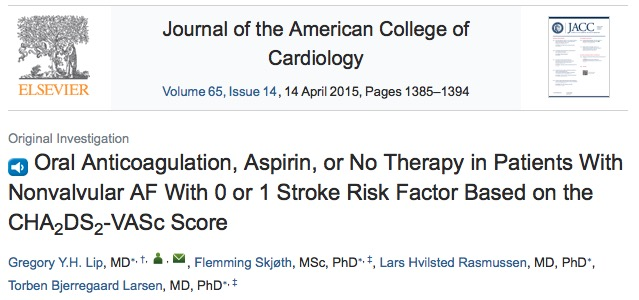 аспирин, инсульт, Journal of the American College of Cardiology