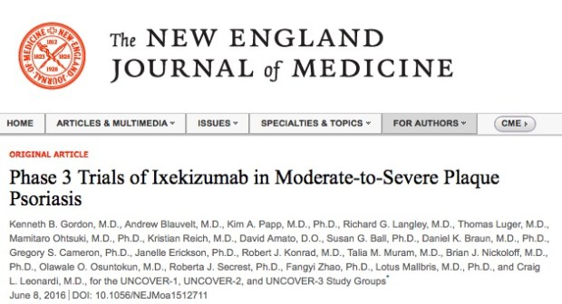 псориаз, New England Journal of Medicine