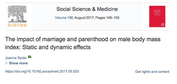 Брак, отцовство, мужчины, вес, ожирение