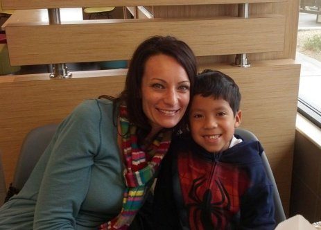 Tonya Brown mother and son