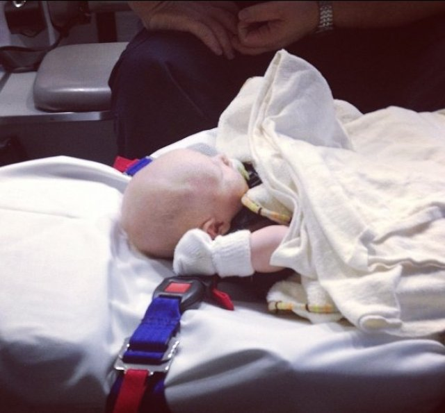 Braxton on way to hospital