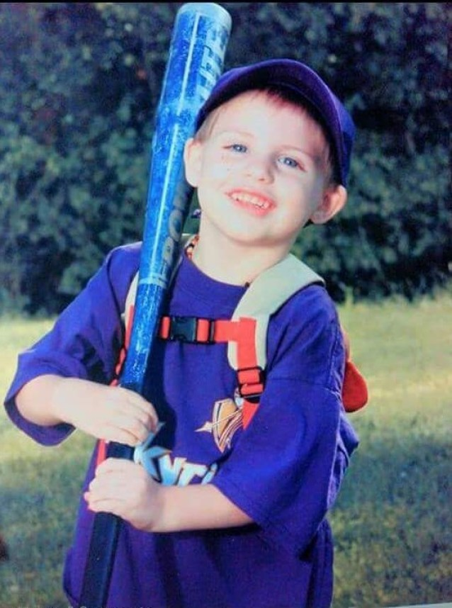 Headley Jack with baseball bat