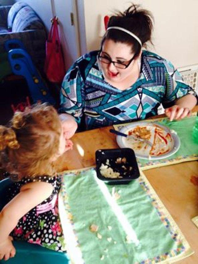Alyssa with niece