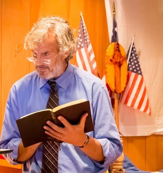 Andy Ostrowski with Bible
