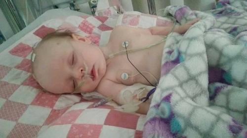 Kelsey baby in hospital