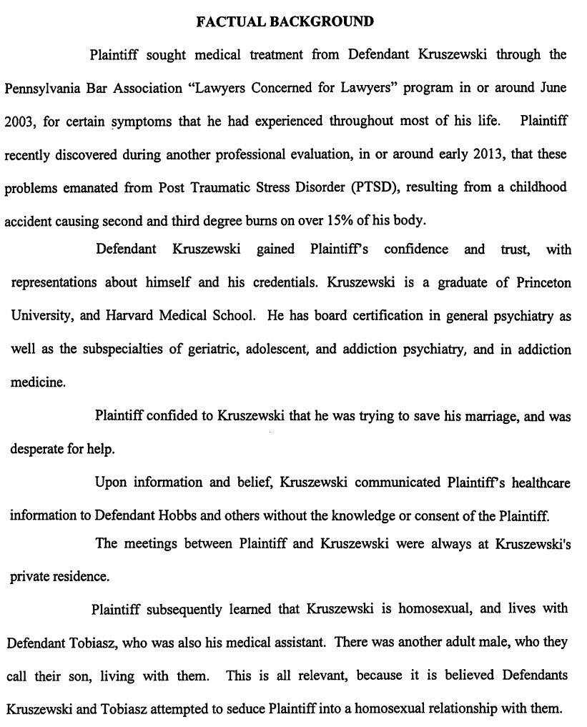 Kruszewski complaint excerpt