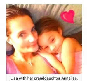 Annalise with grandmother Lisa
