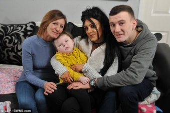 Epileptic girl and British family