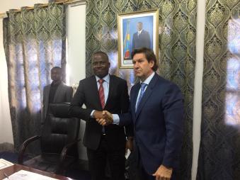 cannabis ceo with Congo President