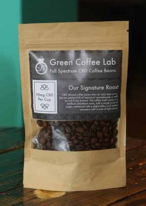 Cannabis infused coffee beans by Green Coffee Lab