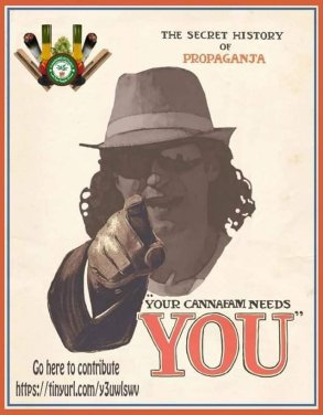 British Cannabis Campaign poster, containing slogan: WTU needs you!