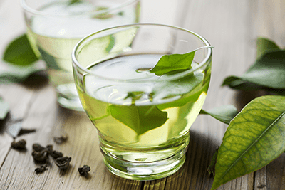 theanine green tea leaves
