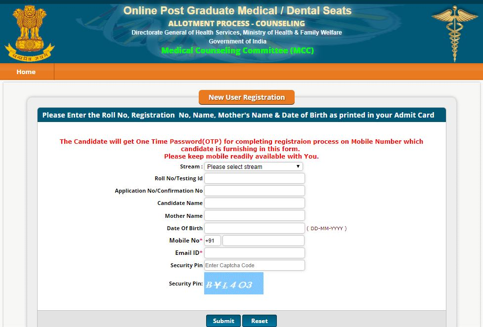 NEET PG 2018 Counseling opens on MCC website