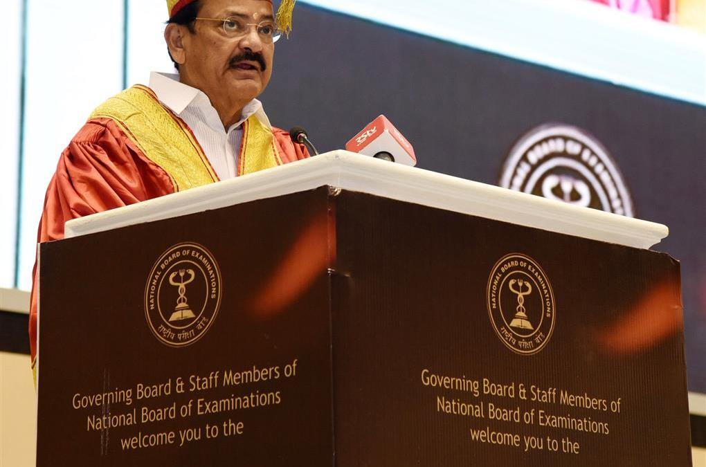 Vice President of India Addresses the 19th Convocation of National Board of Examinations (NBE); Urges doctors to serve in rural areas