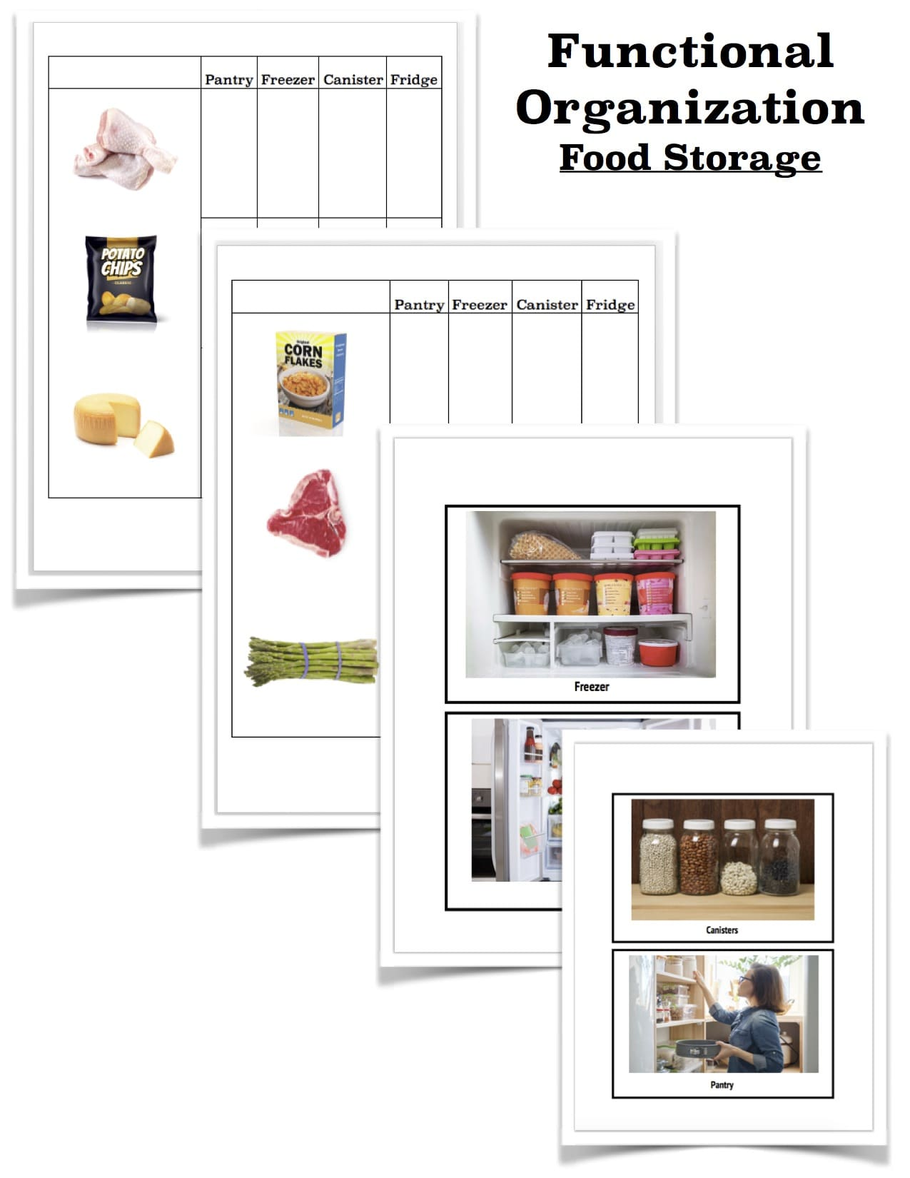 Food Storage Worksheets