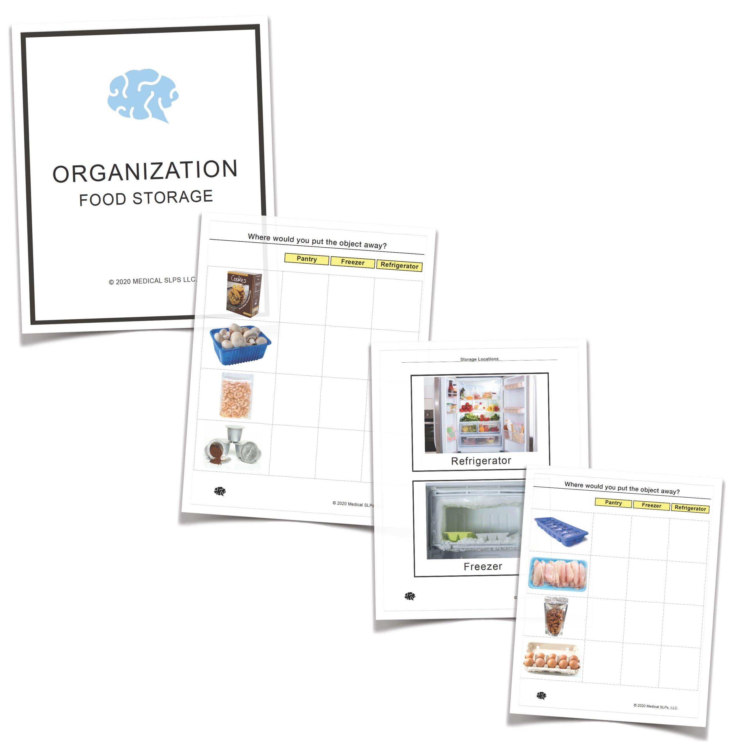 Organization Tasks Food Storage