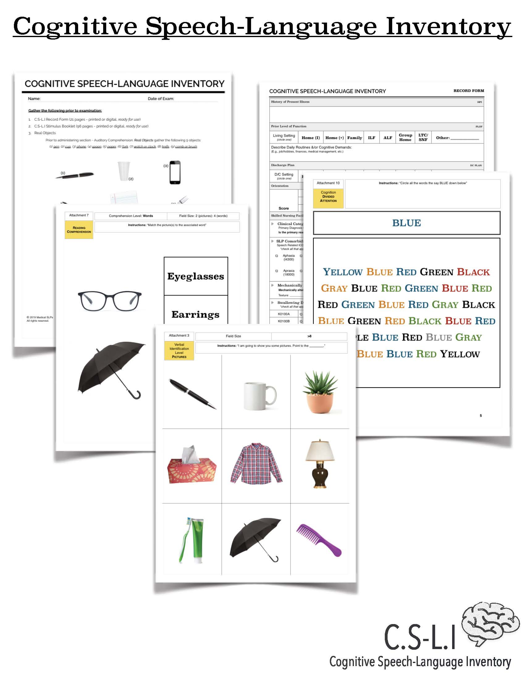 Cognitive Speech Language Inventory