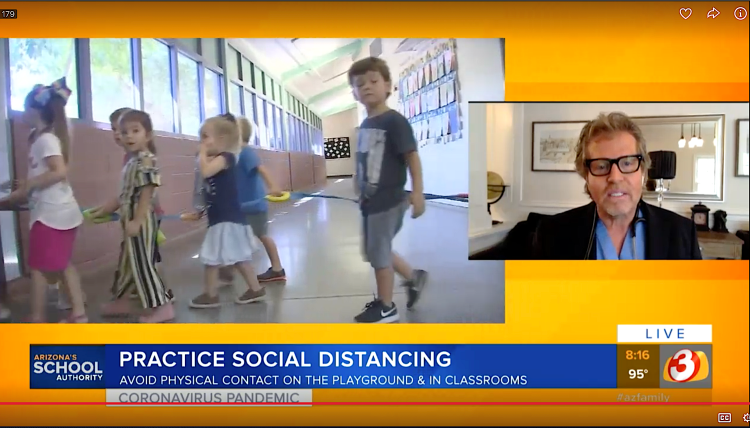 Dr. von Schwarz discusses back to school safety on Good Morning Arizona