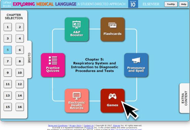 LaFleur Medical Terminology Online Resources Games