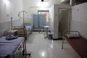 One of the patient rooms at St.Anthony's Hospital, Anjuna, Goa