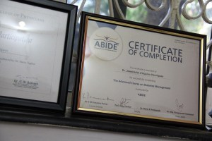 Some certificates of Dr. Henriques at St.Anthony's Hospital, Anjuna, Goa