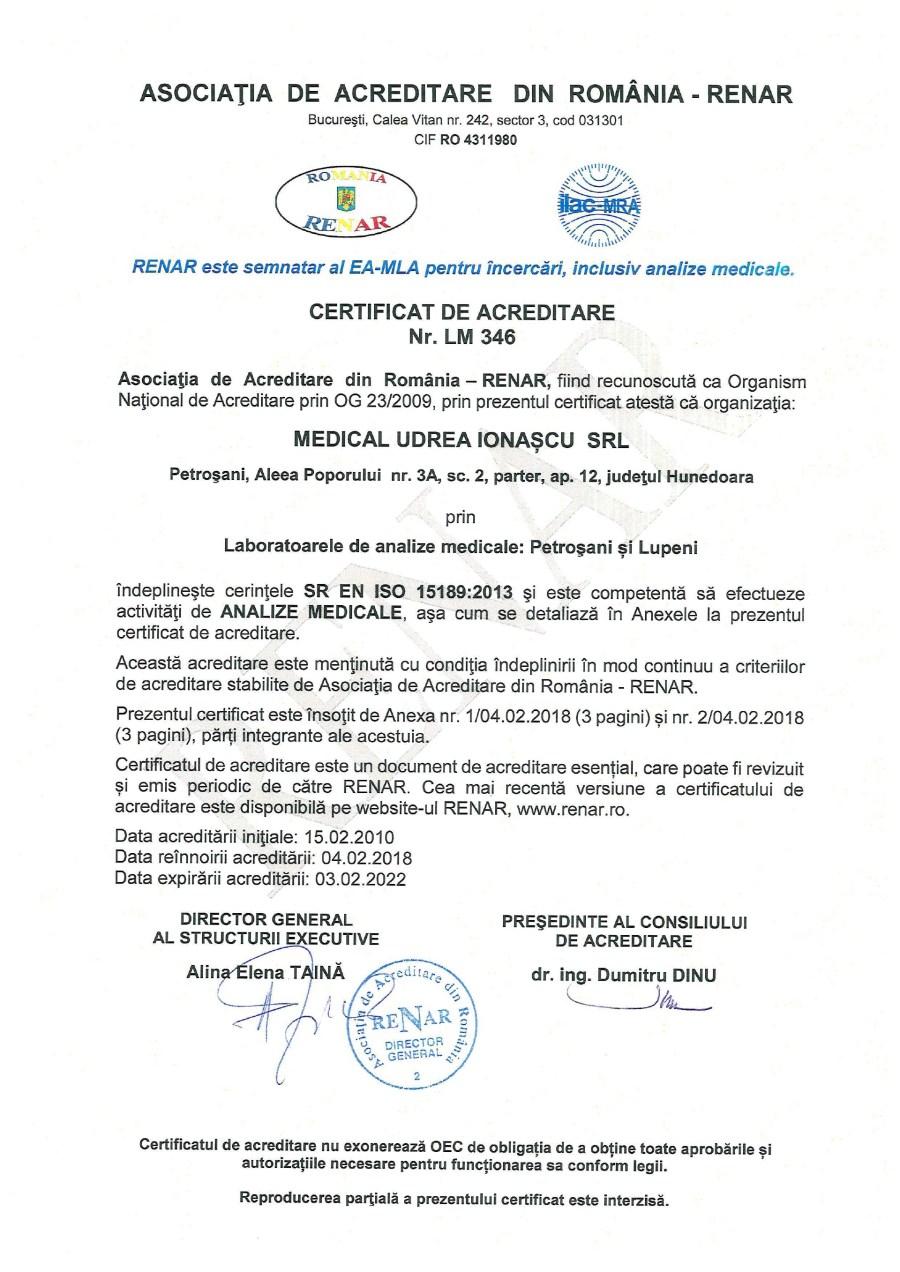 Certificat Renar 1