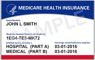 Image of the new Medicare Card