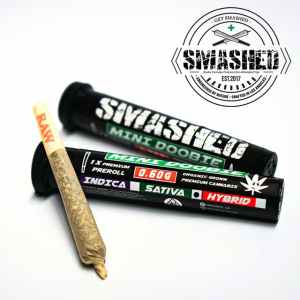 Smashed – Mini Doobie – Lemon Haze (Sativa)