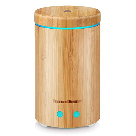 InnoGear Upgraded Real Bamboo Essential Oil Diffuser